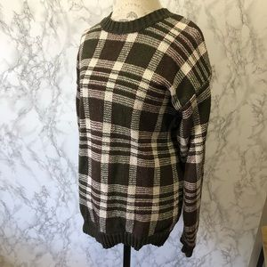 Tommy Hilfiger Vintage Plaid Sweater Size Large